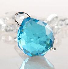 Skyblue Crystal Glass Lamp Prism Ball Suncatcher Pendant Wedding Decor Gift 30mm