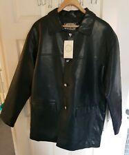 Mens BLACK  FAUX Leather PVC Jacket Size XL by A Collezioni