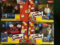Simpsons Playmates World of Springfield Lot 77 Action Figures 8 sets FREE Pickup