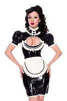 R1787 Fantastic MAID UNIFORM FETISHISTS Rubber Latex Dress 2 PIECE SET Seconds
