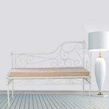 Sitzbank aus Metall für Garten Terasse Entspannung Wohnzimmer Diele, GM-AOFI