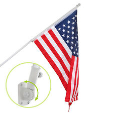 Wall-mount Aluminum Heavy Duty Flag Pole 6' Spinner Tangle Free Flagpole Kit