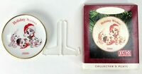 Vtg Hallmark 101 Dalmatians Collector's Plate Christmas Ornament Tree