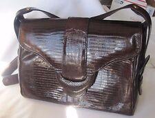 Gorgeous Vintage Genuine Lizard Handbag, NEW Condition