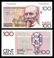 BELGIUM 100 FRANCS UNC *** ND 1982-1994 P 142 * Hendrik Beyaert *