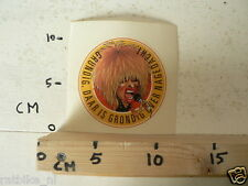 STICKER,DECAL TINA TURNER POP,GRUNDIG DAAR IS GRONDIG OVER NAGEDACHT A NOT 100%