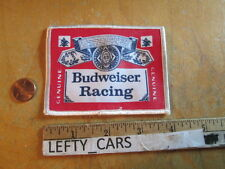 BUDWEISER RACING CLOTH VINTAGE PATCH - SEW ON TYPE