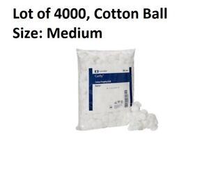 4000 Cotton Balls Cosmetic Makeup Spas, Medium, Nonsterile 100% Cotton Covidien