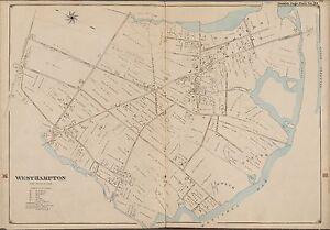 1902 E. BELCHER HYDE, WESTHAMPTON BEACH SUFFOLK COUNTY LONG ISLAND NY ATLAS MAP