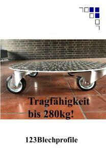 Pflanzenroller AluGrip-R280 bis280kg Blumenroller Untersetzer Indoor Outdoor Alu