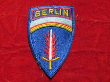 US ARMY SHAEF Occupation Berlin District Patch British made black back