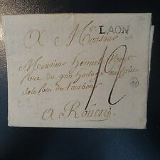 FRANCE MARQUE POSTALE LETTRE COVER LAON 1788 L2
