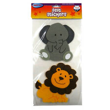 Zoo Animals Large 3D Felt Stickers - Pack of 8 Different Animals