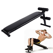 Folding Adjustable Ab Sit Up Bench Decline Home Gym Crunch Fitness Board