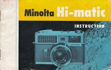 Genuino Original Hi-matic cámara manual de instrucciones
