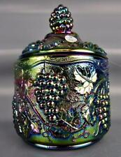 Fenton ART GLASS - GRAPE 100th Anniversary Amethyst Carnival Glass Box 4529P