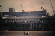 KODACHROME Red Border 35mm Slide Holland Rotterdam Train Ship Terminal? 1950s!!!