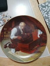 """Norman Rockwell Collector Plate """"Grampa's Gift"""" Knowles Fine China"""
