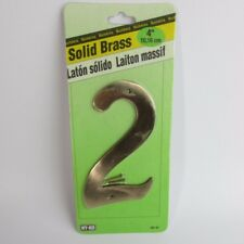 """Hy-Ko Products #2 Solid Brass 4"""" House Number with Nails"""