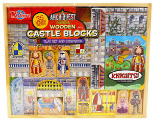 T.S. Shure Archiquest: Wooden Castle Blocks Play Set and Storybook