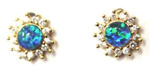 Australian Natural Black Triplet Opal Earring Solid Sterling Silver YGP