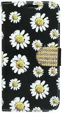 HR Wireless Cell Phone Case for LG K7 White Daisy Blossom Floral