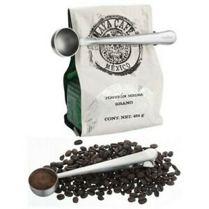 Spoons Stainless Spoons Ground Coffee Measuring Clip Scoop With Bag Sealing Tool