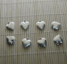 6pcs Tibetan Silver heart Charm Heart Pendant Bead Jewellery Making 16*14 mm