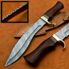CUSTOM HAND MADE Damacus STEEL Bowie knives-  wallnet