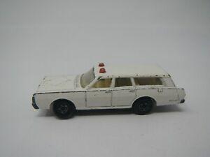 Vintage 1971 Matchbox Mercury Police Car No. 55