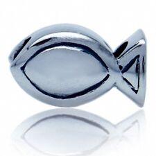 AUTH Nagara 925 Sterling Silver Ichthys CHRISTIAN FISH European Charm Bead
