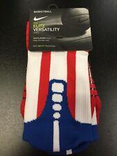 Nike Elite Versatility Crew Basketball Socks M Medium Dri-Fit Sports USA New DS