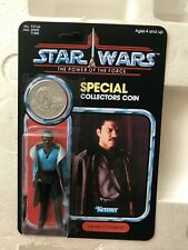 LANDO BESPIN HASBRO RETRO FIGURE on CUSTOM UNRELEASED POWER OF THE FORCE CARD