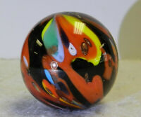 #12521m Keith Baker Handmade Contemporary Marble With Lutz Signed KB19 *Mint*