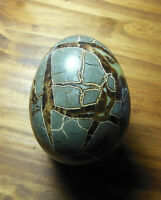 Dragon Septarian Egg Crystal w Hand Carved Stand Septarian Sphere Stunning