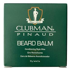 Clubman Pinaud Beard / Moustache Balm & Styling Wax 59g add shine,control frizz