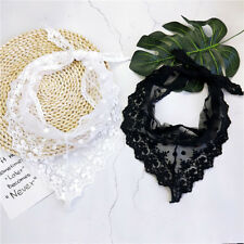 2018 New Women Lace Triangle Satin Scarf Vintage Head Neck Hair Tie Band Wrap