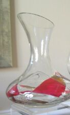 """Stunning Milano Romanian Mosaic Crystal Wine Carafe/Decanter 9 1/2"""" tall Unique"""