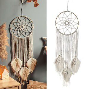 Large Dream Catcher Handmade Knitted Dreamcatcher Home Bedroom Hanging Decor UK
