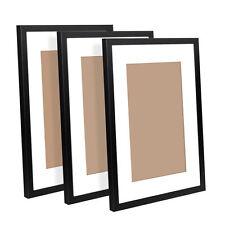 Photo Frame Set 3Pcs A3 Black Picture Wall Home Decor Art