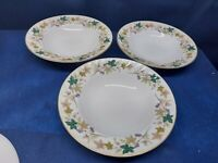"""Vintage Meito Fine China """"Surrey"""" Set/3 Soup/Salad Bowls Retired Japan"""