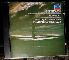 BEETHOVEN SONATAS MOONLIGHT PATHETIQUE APPASSIONATA ASHKENAZY CD WEST GERMANY