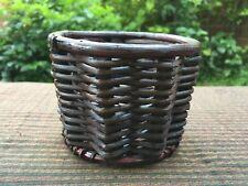 Thai Cute Handcraft Wicker Circle Storage Basket Souvenir, Gift , Multipurpose