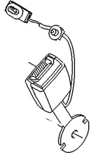 Vauxhall Boucle Ceinture Sécurité - Neuf D'Origine - 93868120