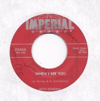 FATS DOMINO * 45 * When I See You * 1957 #29 * USA ORIGINAL Imperial VINYL Press