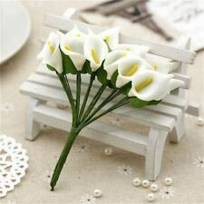 144x Foam Calla Artificial Flowers Wedding Bride Bouquet Wreath Gifts Box Decor