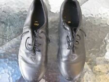 male or unisex black tap dance shoes leather brand is bloch adult 6 1/2 dancing
