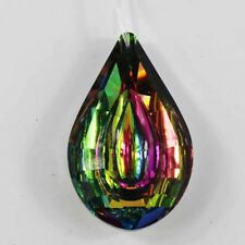 76mm Dark rainbow Glass Crystal Lamp Prism Part Hanging Drop Pendant Chandelier
