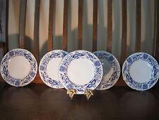 Five Vintage Josef Kuba JKW  Art Deco Blue & White  Porcelain Plates - West Germ