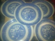 Unboxed Earthenware Woods Ware Pottery Dinner Plates